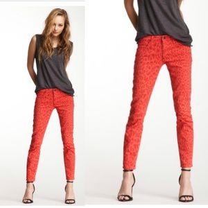Joe's Jeans Jeans - Joe's Jeans High Water Red Leopard Skinny Jeans 26